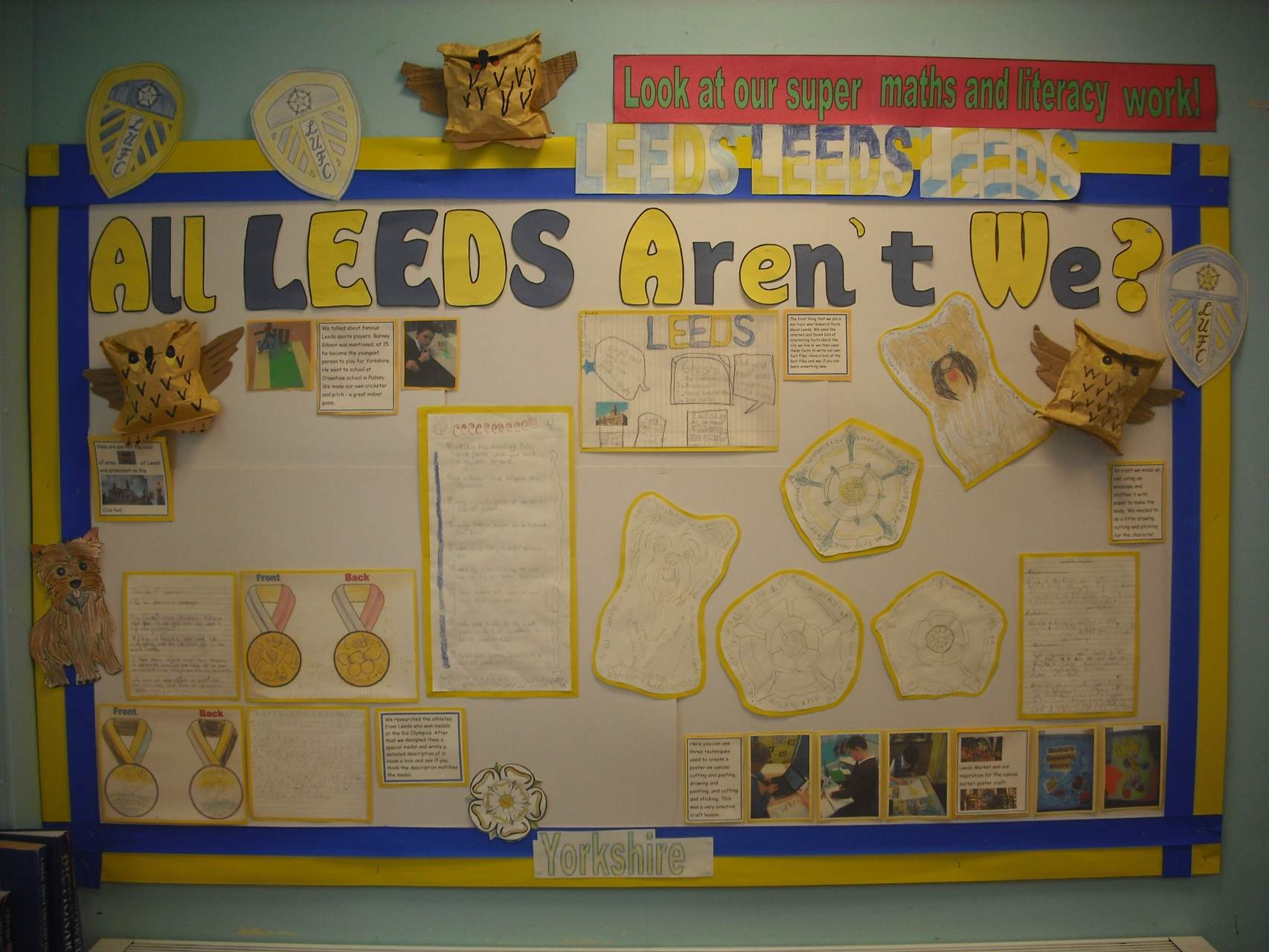 Our class display, showing the excellent work done by the pupils